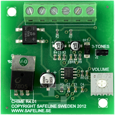 Arrival chime board
