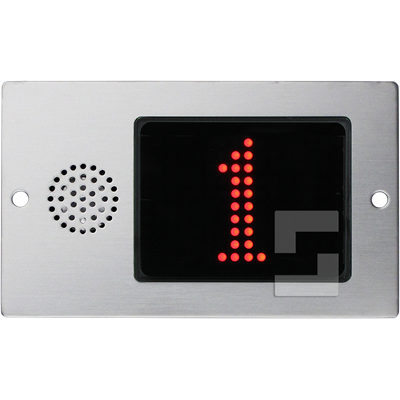 SafeLine FD4-CAN red display, flush mounting with speaker