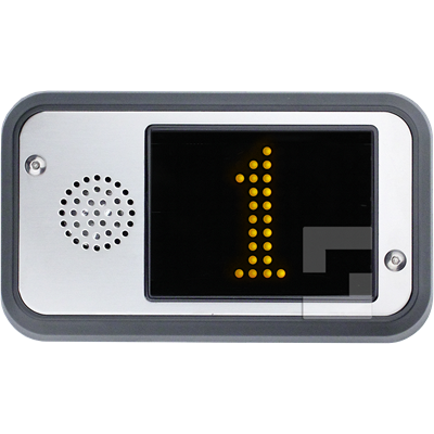 SafeLine FD4, surface mounting with built-in speaker (yellow floor display)
