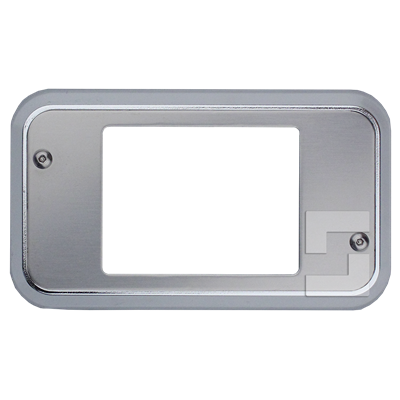 SafeLine FD4 front plate with chrome frame