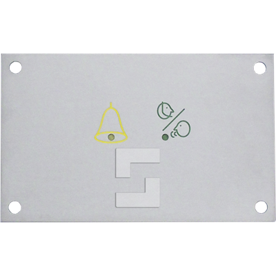 Flush mounted pictograms