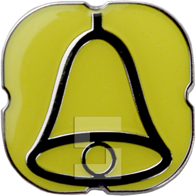 Yellow metal pictogram sticker