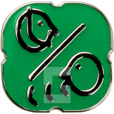 Green metal pictogram sticker