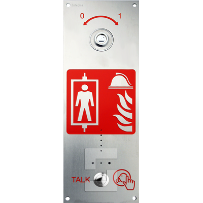 SafeLine SL6+ FIRE station, flush mounting with key switch