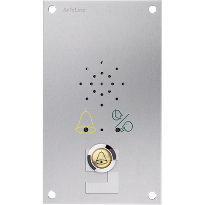 SafeLine SL6 voice station, flush mounting with LED pictograms & alarm button