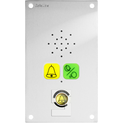 SafeLine SL6 voice station, flush mounting with pictogram lenses & alarm button