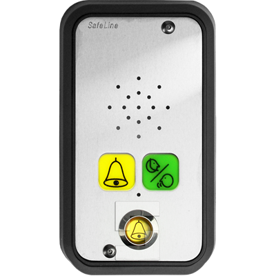 SafeLine SL6 voice station, surface mounting with pictogram lenses and alarm button