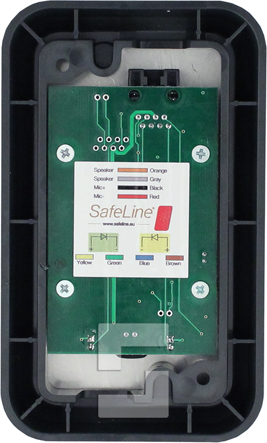 SafeLine 3000 voice station, surface mounting with with LED pictograms