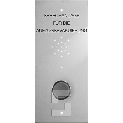 SafeLine EVAC floor station with button, flush mounting (DE)