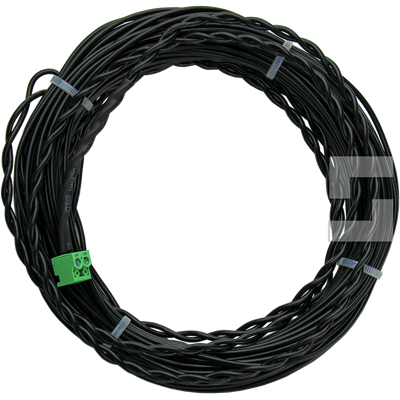 Inductive loop cable with two-pole connector
