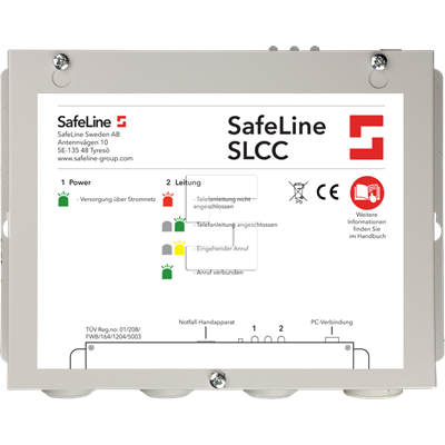 "SLCC ""SafeLine Call Center"", modem og programvare"